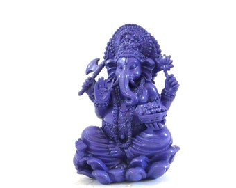 ganesh statue, modern asian home, ganesha, hindu statue, purple decor, bohemian