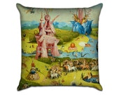 The Garden of Earthly Delights by Bosch (5) - Famous Art Sofa Throw Pillow