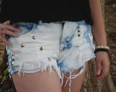 Bleach Cloud Dyed High Waisted Shorts