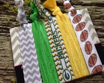 Green Bay Packers Ladies Leather Wrap Bracelet - Green