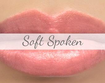 "Vegan Lipstick Sample - ""Soft Spoken"" (light peachy pink color) lip tint, balm, lip colour, natural lipstick"