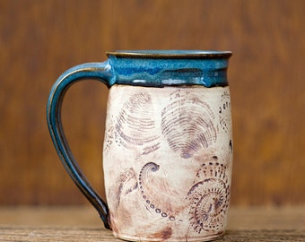 Beachcomber Mug-Nautical Sea Shell-16oz