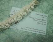 1 yard of 3/4 inch Ivory Ruffled Chantilly lace trim for bridal, baby, wedding, garter, crafts by MarlenesAttic - Item SS5