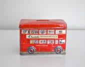 Vintage Confectionery Tin Double Decker Bus  Box Bank