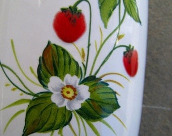 Signed Hand-Painted Nelly Berries Art Pottery Vase