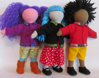 """SALE Micro fleece jacket for 11"""" dolls with 5 color choices"""