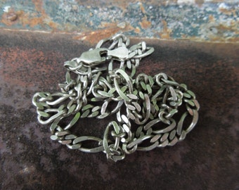 "Sterling Silver Linked Necklace Heavy and Well Crafted Made in Italy 17 1/2"" in Length"