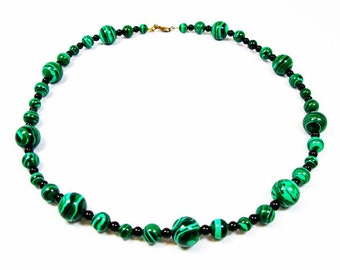 Malachite with Black Accents Necklace
