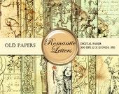 Old Paper  digital paper pack  Steampunk digital scrapbook background paper vintage  texture decoupage paper