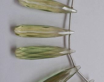Lemon Green Hydro Quartz Long Drops