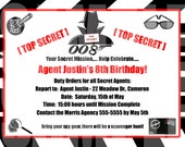 Agent/Spy Birthday Invitation