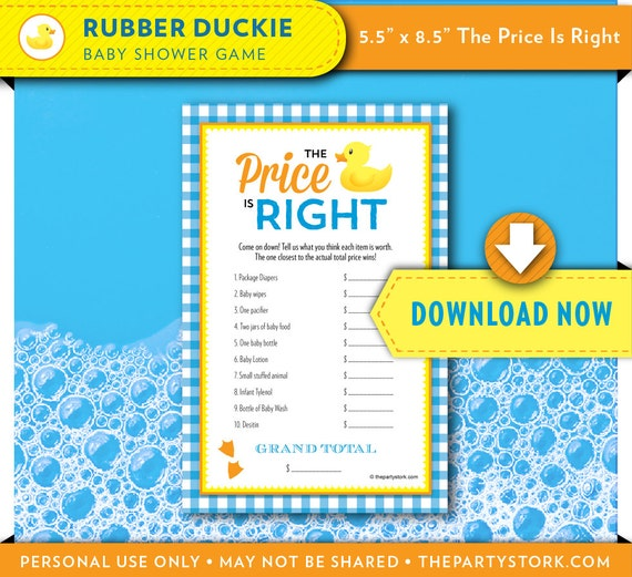 Rubber Duck Baby Shower Games Rubber Ducky Baby Shower