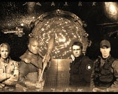 Stargate SG-1 O'Neil Carter Jackson Teal'c Limited Edition Geekograph Metal Art