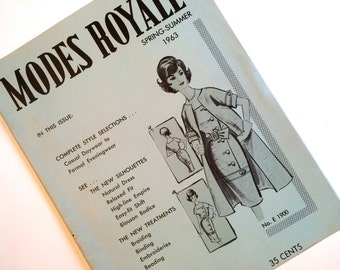 Modes Royale Sewing Pattern Catalog Spring Summer 1963