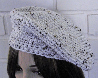 Crocheted Oatmeal Beret