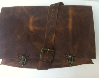Men Messenger Bag/Brown Leather Messenger Bag/Men Crossbody Bag/Handmade Shoulder Bag For Men