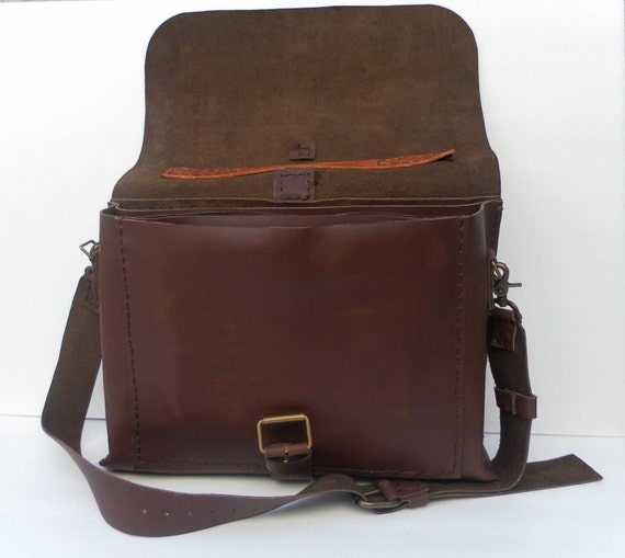 Messenger Leather BagProfessional Work BagDark Brown