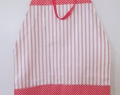 "Pink/White Square ""Towel"" Apron"