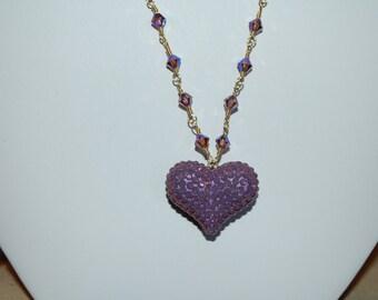 Swarovski crystal 16inch heart necklace.