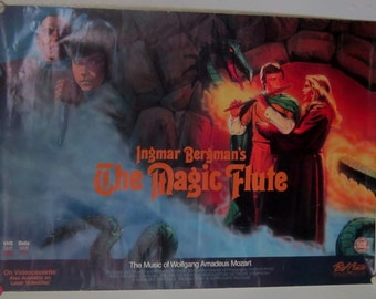 Vintage Movie Poster Ingmar Bergman's The Magic Flute Video Poster