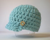 PATTERN:  Newbie Newsie hat, easy crochet PDF, InStAnt DigITAL DoWnLoAd, Sizes newborn to Toddler, permission to sell