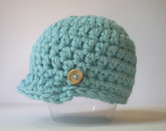 PATTERN:  Newbie Newsie hat, easy crochet PDF, InStAnt DigITAL DoWnLoAd, Sizes newborn to Toddler, permission to sell