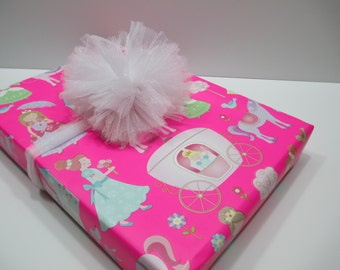 Princess, Fairy Princess, SALE   Fairy Princess Gift Wrap, Wrapping Paper, Table  Runner, 10 Feet Long X 24 Inches Wide