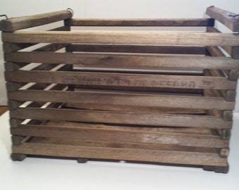 Owosso MI Manufacturing Wooden Egg Crate