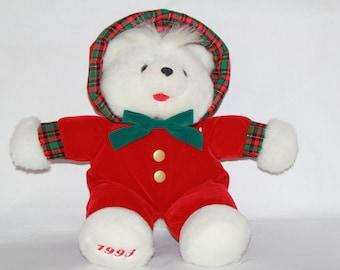 Christmas Bear Vintage 1993 Christmas Bear