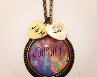 Travel journey necklace