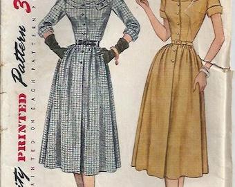 VTG Simplicity 3670 Misses Dress Pattern with Front Bodice Interest, Size 14 UNCUT