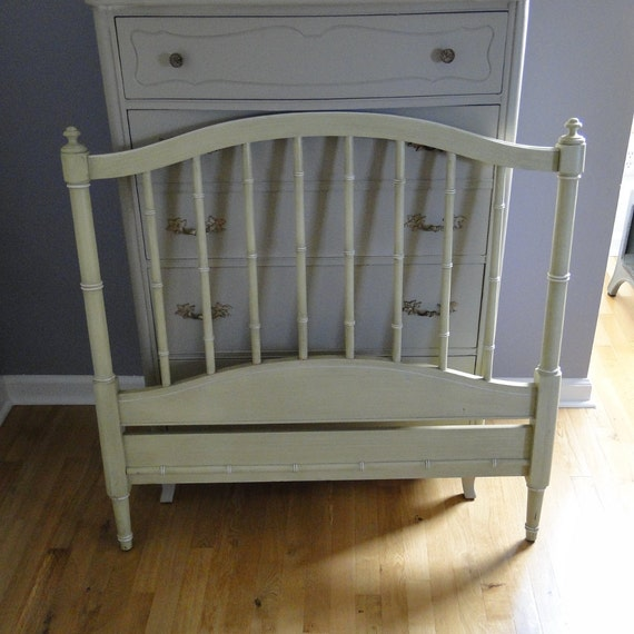 Etsy Vintage Bamboo Furniture: Vintage Headboards Two Faux Bamboo Twin Size Headboards Creamy