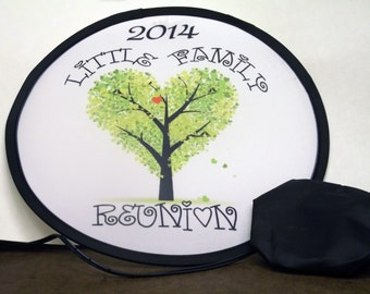 """Personalized Folding Flying Disc - Family Reunion Company Party 10"""" Full Color"""