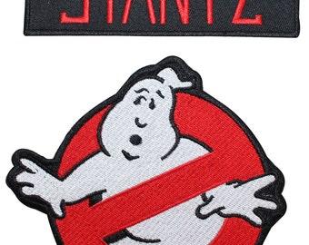Ghostbusters Stantz Name Tag & No Ghost Uniform Applique Patch