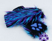 Pawstar Party Furz Paw Warmers YOU PICK COLOR Faux Fur Furry Monster Arm Warmer Gloves uv cosplay costume Black Lime Blue Party Plug 3142