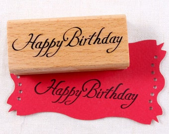 30% OFF SALE Happy birthday 01 Rubber Stamp