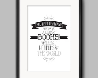 Doctor Who - Books Typography Quote Poster