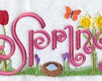"Novelty ""Spring"" Sweatshirt"