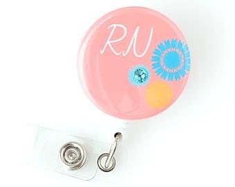 Registered Nurse Badge Reel - RN Grad Gifts - Cute Retractable Badge Clips - Name Badge Holders - ID Badge Pulls - Nurse Gifts - BadgeBloom