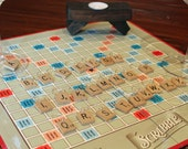 Vintage Scrabble Tile Alphabet Wine Charms - full set of 26 letters