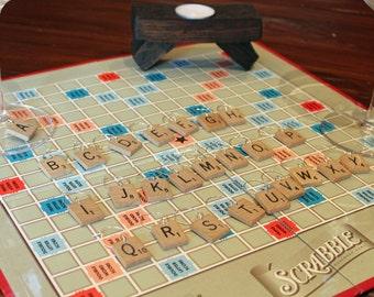 Vintage Scrabble Tile Alphabet Wine Charms - full set of 26 letters