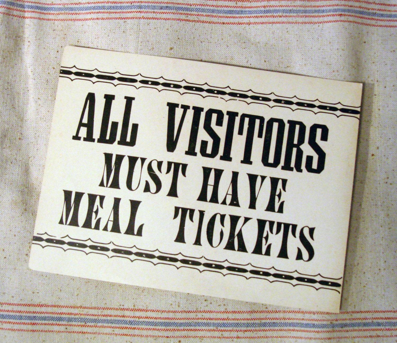 Original Vintage Old Band Camp Sign All Visitors by ...