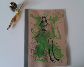 Custom hand painted notebook