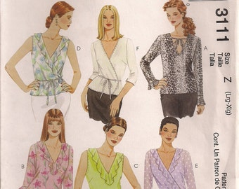 McCall's Sewing Pattern 3111 - Misses' Tops (16-22)