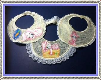 Baby Bib Set,Embroidered Lace, Baby Bib, Bibs, Lace Bibs