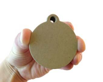 "2"" Kraft Brown Circle Paper Tags - Create Something Truly Unique! - 100 Count"