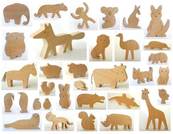 Custom order - Wooden toys - set of 35