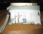 Sailing Ships Wristlet