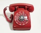 Working Red Rotary Phone -  Rotary Dial Telephone