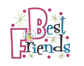 Best Friends -- Machine Embroidery Applique Design